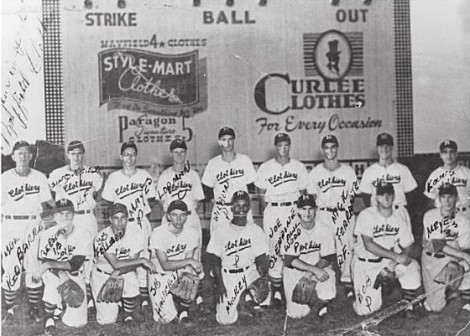 The 1952 Mayfield Clothiers. It's obvious who Mickey is, in the front row.