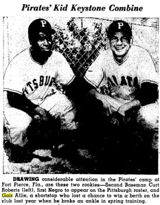 Curt Roberts (left) and Gair Allie, pictured in the March 3, 1954 issue of The Sporting News