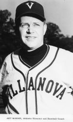 Art Mahan as baseball coach at his alma mater, Villanova