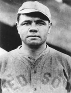 Babe Ruth hit cleanup as a pitcher for the Red Sox