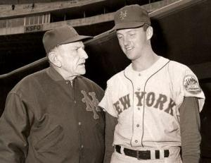 Casey Stengel with Bill Wakefield