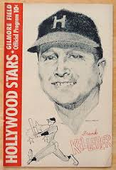 Frank Kelleher on the cover of a Hollywood Stars program