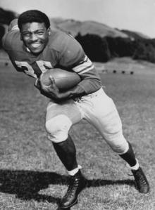 John Henry Johnson as a San Francisco 49ers during training camp at Saint Mary's College in Moraga