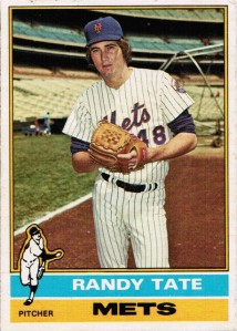 Randy Tate's 1976 Topps baseball card