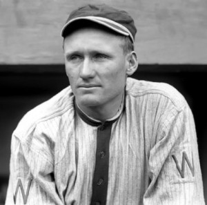 Walter Johnson once batted fifth for the Washington Senators